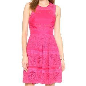 Rebecca Taylor Lace & Silk Dress
